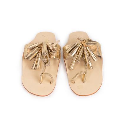 Authentic Second Hand Figue Metallic Tassel Sandals (PSS-B98-00023)