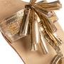 Authentic Second Hand Figue Metallic Tassel Sandals (PSS-B98-00023) - Thumbnail 7
