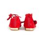 Authentic Second Hand Aquazzura Red Suede Tassel Ballet Flats (PSS-B98-00025) - Thumbnail 2