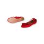 Authentic Second Hand Aquazzura Red Suede Tassel Ballet Flats (PSS-B98-00025) - Thumbnail 4