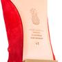 Authentic Second Hand Aquazzura Red Suede Tassel Ballet Flats (PSS-B98-00025) - Thumbnail 6