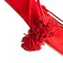 Authentic Second Hand Aquazzura Red Suede Tassel Ballet Flats (PSS-B98-00025) - Thumbnail 8