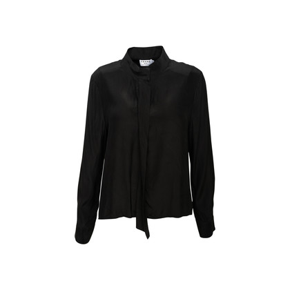 Authentic Second Hand Frame Long Sleeve Silk Top (PSS-B98-00044)