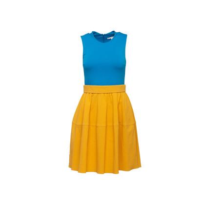 Authentic Second Hand Carven Two Tone Seersucker Dress (PSS-C06-00012)
