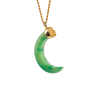 Authentic Second Hand Kenneth Jay Lane Crescent Jade Necklace (PSS-089-00181) - Thumbnail 0