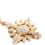 Authentic Second Hand Judith Ripka Gold Rhombus Zirconia Earrings (PSS-634-00046) - Thumbnail 3