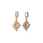 Authentic Second Hand Judith Ripka Gold Rhombus Zirconia Earrings (PSS-634-00046) - Thumbnail 1