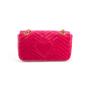Authentic Second Hand Gucci Marmont Velvet Shoulder Bag (PSS-A92-00005) - Thumbnail 3
