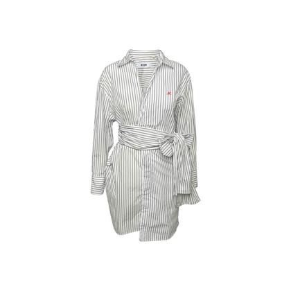 Authentic Second Hand MSGM Stripe Wrap Dress (PSS-418-00051)