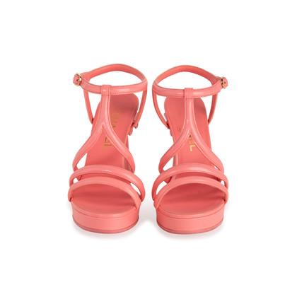Authentic Second Hand Chanel 18C Column T-Strap Sandals (PSS-418-00006)