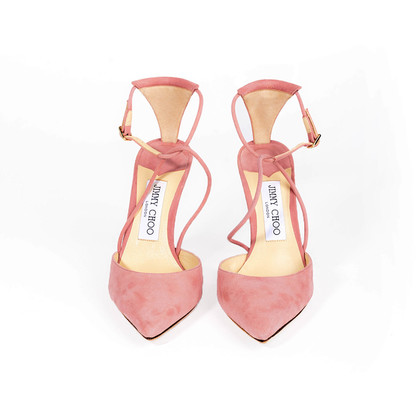 Authentic Second Hand Jimmy Choo Leta 100 Suede Pumps (PSS-418-00012)