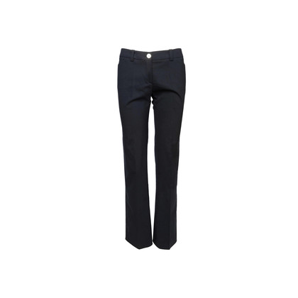 Authentic Second Hand Burberry Navy Wide Legged Pants (PSS-C22-00016)