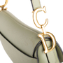 Authentic Second Hand Christian Dior Grained Calfskin Saddle Bag (PSS-C53-00001) - Thumbnail 7