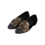 Authentic Second Hand Chanel Velvet Bow Grosgrain Loafers (PSS-C53-00002) - Thumbnail 3