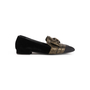 Authentic Second Hand Chanel Velvet Bow Grosgrain Loafers (PSS-C53-00002) - Thumbnail 1