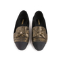 Authentic Second Hand Chanel Velvet Bow Grosgrain Loafers (PSS-C53-00002) - Thumbnail 0