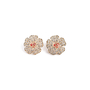 Authentic Second Hand Chanel Logo Flower Crystal Earrings (PSS-328-00071) - Thumbnail 0