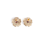 Authentic Second Hand Chanel Logo Flower Crystal Earrings (PSS-328-00071) - Thumbnail 1