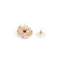 Authentic Second Hand Chanel Logo Flower Crystal Earrings (PSS-328-00071) - Thumbnail 3