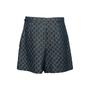 Authentic Second Hand Gucci Logo Jacquard Organic Washed Denim Shorts (PSS-328-00073) - Thumbnail 1