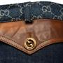Authentic Second Hand Gucci Logo Jacquard Organic Washed Denim Shorts (PSS-328-00073) - Thumbnail 3